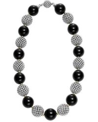 Lagos - 'black Caviar' Beaded Necklace - Lyst