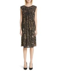 Marc Jacobs - City Print Silk Dress - Lyst