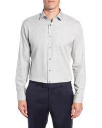 Calibrate - Trim Fit Herringbone Dress Shirt - Lyst