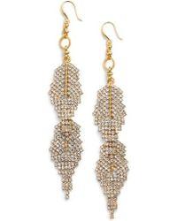 Badgley Mischka - Crystal Drop Earrings - Lyst