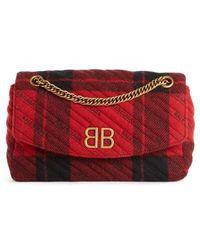 Balenciaga - Medium Bb Round Plaid Shoulder Bag - Lyst