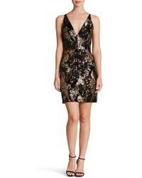 Dress the Population   Jordyn Plunge Sequin Body-con Dress   Lyst