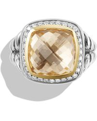 David Yurman - 'albion' Ring With Diamonds And Gold - Lyst