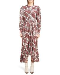 Isabel Marant - Jorja Silk Blend Dress - Lyst