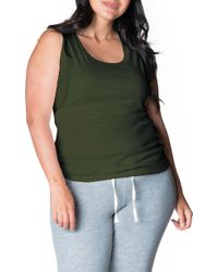 7d43e600a662c Bun Maternity Relax Maternity/nursing Tee in Gray - Save 41% - Lyst