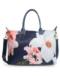 Ted Baker - Large Orchida Chatsworth Bloom Nylon Tote - Lyst