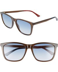 4fa1b4d6168 Lyst - Gucci Wayfarer Sunglasses in Blue for Men