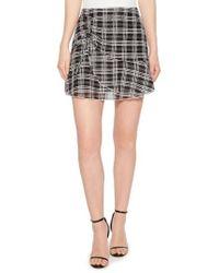 Parker - Chris Side Ruched Miniskirt - Lyst