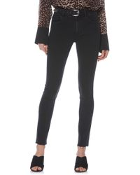 PAIGE - Hoxton Belted High Waist Ankle Peg Jeans - Lyst