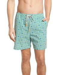 f04a93c6c0854 Dolce & Gabbana Long Printed Swimming Trunks in Blue for Men - Lyst