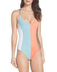 Pilyq - Farrah Stripe One-piece Swimsuit - Lyst
