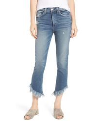 Mcguire - Valletta High Waist Crop Straight Leg Jeans - Lyst