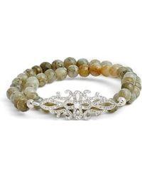 Elise M - Gatsby Double Wrap Stretch Bracelet With Pave Art Deco Detail - Lyst