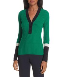 BOSS - Fenila Colorblock Sweater - Lyst