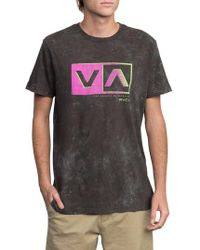RVCA - Static Box Graphic T-shirt - Lyst