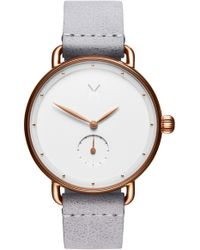 MVMT - Bloom Leather Strap Watch - Lyst