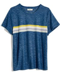 0fee1a01a7 Madewell Rivet & Thread Long-sleeve Vintage Shrunken Tee In Stripe in Gray  - Lyst
