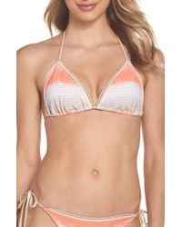 Luli Fama - Metallic Trim Bikini Top - Lyst