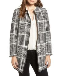 Cupcakes And Cashmere - Fernando Herringbone Plaid Coat - Lyst