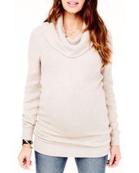 Ingrid & Isabel - Maternity Cowl Neck Sweater - Lyst