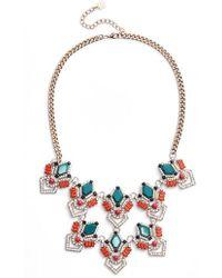 Adia Kibur - Stone & Crystal Statement Necklace - Lyst