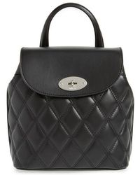 Mulberry - Mini Bayswater Quilted Calfskin Leather Convertible Backpack - Lyst