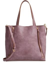 Chelsea28 - Leigh Convertible Zipper Faux Leather Tote - - Lyst