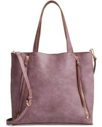 Chelsea28 - Leigh Convertible Zipper Faux Leather Tote - Purple - Lyst