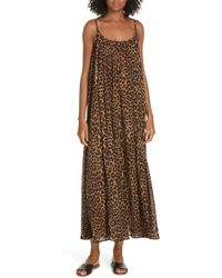 Mes Demoiselles - Fetiche Leopard Print Maxi Dress - Lyst