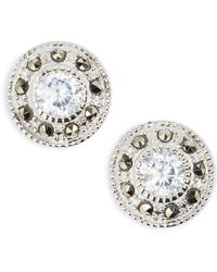 Judith Jack - Pave Stud Earrings - Lyst