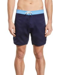 7279b79d3a Quiksilver Scallop 15 Board Shorts in Blue for Men - Lyst