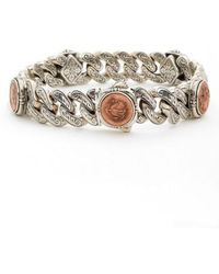 Konstantino | 'aeolus' Coin Link Bracelet | Lyst