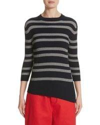 Sofie D'Hoore   Slant Hem Stripe Sweater   Lyst