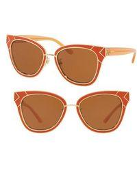 Tory Burch - Enamel San Ray 53mm Sunglasses - Lyst