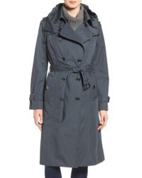 London Fog - Double Breasted Trench Coat - Lyst