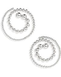 Y. Project - Spiral Ball Chain Earrings - Lyst