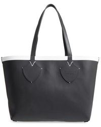Burberry - Medium Reversible Leather & Check Canvas Tote - Lyst