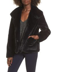 Leith - Fur-fect Faux Fur Jacket - Lyst