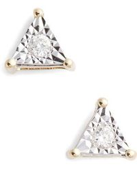 Dana Rebecca - Emily Sarah Diamond Triangle Stud Earrings - Lyst