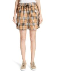 Burberry - Dovemoore Cotton Shorts - Lyst