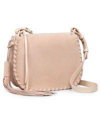 AllSaints - Mori Suede Crossbody Bag - - Lyst