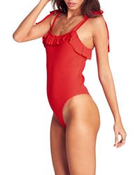 Billabong - Marbella Dreams Ruffle Bodysuit - Lyst