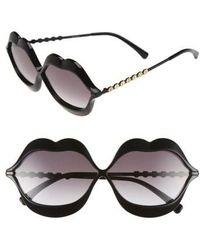 Wildfox - 'lip Service' 65mm Sunglasses - - Lyst