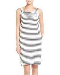 Barbour - Dalmore Stripe Jersey Sleeveless Shift Dress - Lyst