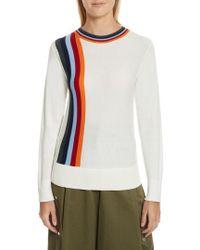 Public School | Nell Stripe Cotton Blend Sweater | Lyst