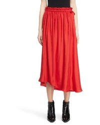KENZO - Long Belted Skirt - Lyst