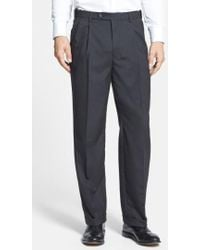 Berle | Self Sizer Waist Pleated Trousers | Lyst