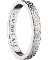 Monica Rich Kosann - Love You More Scrollwork Poesy Ring Charm - Lyst