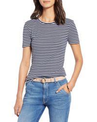 ff32d04263 1901 Shoulder Button Cotton Top in Blue - Lyst