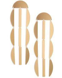 Panacea - Linear Crescent Earrings - Lyst
